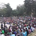 vorbereitungen zum openair in dhaka